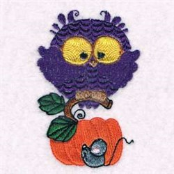Owl & Mouse embroidery design