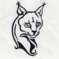 Lynx Head embroidery design
