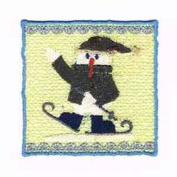 Wincan Wrap Snowman embroidery design