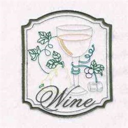 Wine Cup embroidery design