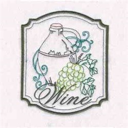 Wine Picture embroidery design