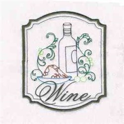 Wine & Bread embroidery design