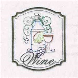 Wine Painting embroidery design