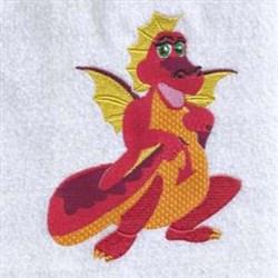 Dragon Squat embroidery design