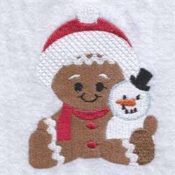 Ginger & Snowman embroidery design