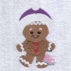 Winter Gingerman embroidery design