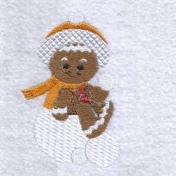 Snowball Gingerbread embroidery design