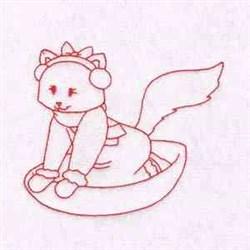 Winter Cat embroidery design