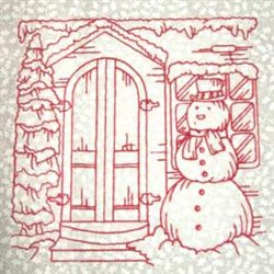 Winter Doorway embroidery design
