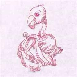 Laundry Flamingo embroidery design
