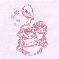 Flamingo Washing embroidery design