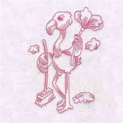 Flamingo Cleaning embroidery design
