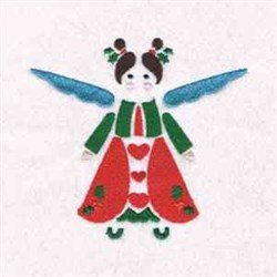 Xmas Cute Angel embroidery design