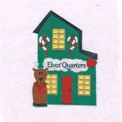 Christmas Elves Quarters embroidery design