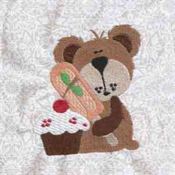 Yummy Bear Cuddle embroidery design