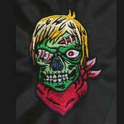 Scary Zombie embroidery design