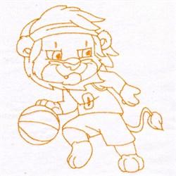 Basketball Lion embroidery design