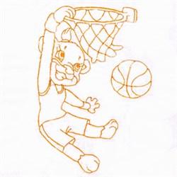 Basketball Monkey embroidery design