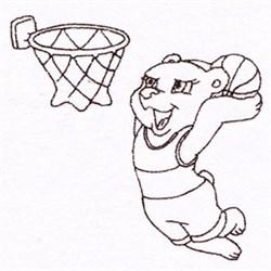 Basketball Rat embroidery design