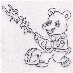 Zoo Kid Racer embroidery design