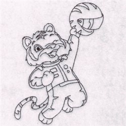 Race Tiger embroidery design