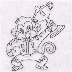 Race Monkey embroidery design