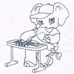 Elephant Rockstar embroidery design