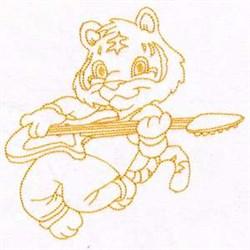 Tiger Rockstar embroidery design