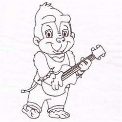 Monkey Rockstar embroidery design