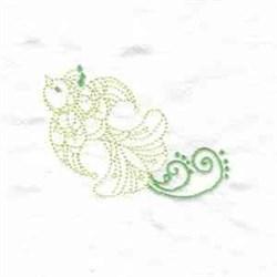 Savannas Swirl Bird embroidery design