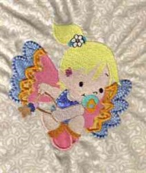 Applique Baby Angel embroidery design