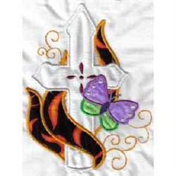Applique Cross embroidery design