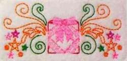 Christmas Gift Border embroidery design