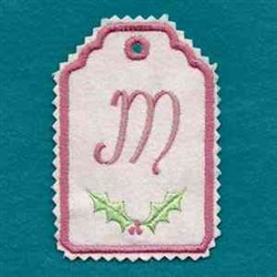 Christmas Tag M embroidery design