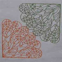 Leaves Block embroidery design