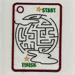 Halloween Moon Maze embroidery design