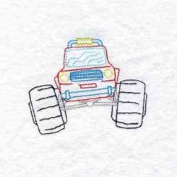 ATV Truck embroidery design