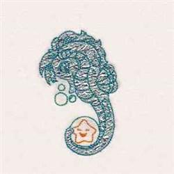 Little Sea Horse embroidery design