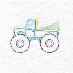 ATV Truck Redwork embroidery design
