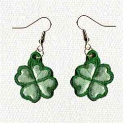 Clover Earrings embroidery design