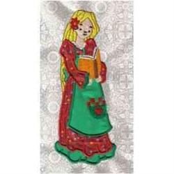 Applique Book Girl embroidery design