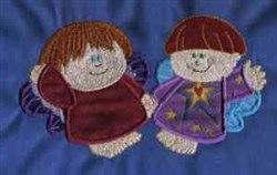 Applique Chubby Angels embroidery design