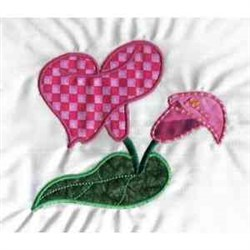 Applique Lily embroidery design