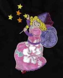 Applique Fairy embroidery design