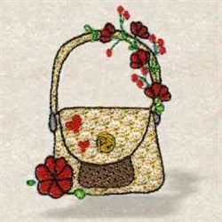 Floral Purse embroidery design