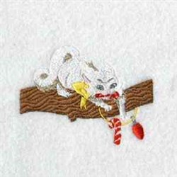 Christmas Kitty embroidery design
