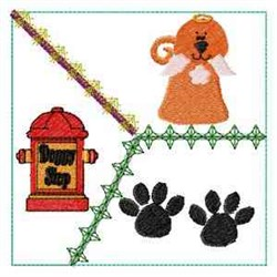 Angel Dog Quilt embroidery design