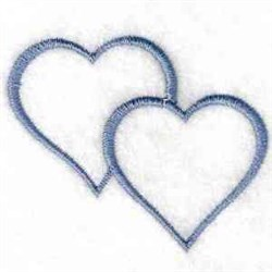 Twin Hearts embroidery design