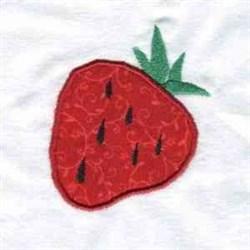 Applique Strawberry embroidery design