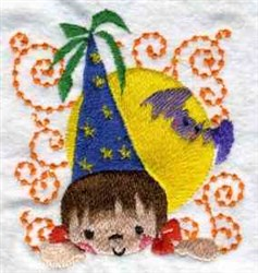 Halloween Kid embroidery design